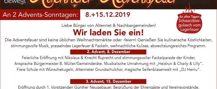 Anzeige Adventsfeuer 2019