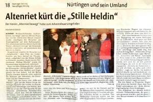 Stiller Held Adventsfeuer